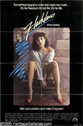 "Hollywood Memorabilia:Autographs and Signed Items, Jennifer Beals Signed ""Flashdance"" Poster. This lot features aposter for the 1983 hit signed by actress Jennifer Beals, who..."