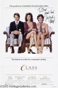 "Hollywood Memorabilia:Autographs and Signed Items, Jacqueline Bissett Signed Poster. For the 1983 comedy ""Class,""which was the feature film debut of Andrew McCarthy, Alan Ruc..."