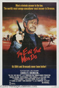 "Hollywood Memorabilia:Autographs and Signed Items, Charles Bronson Autographed Poster. A poster for the movie ""TheEvil That Men Do"" (1984), signed in red marker by star Charl..."