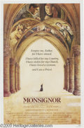 """Hollywood Memorabilia:Autographs and Signed Items, Genevieve Bujold Signed Poster. For the notorious 1982 drama """"Monsignor,"""" which starred Bujold as a nun opposite Christopher..."""