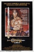 "Hollywood Memorabilia:Autographs and Signed Items, Wilt Chamberlain Signed Poster. For the movie ""Conan theDestroyer,"" which starred ""Wilt the Stilt"" as a warrior with asecr..."