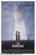 "Memorabilia:Miscellaneous, Glenn Close Signed Poster. For the 1984 baseball drama ""The Natural,"" which won Close an Oscar for Best Supporting Actress. ..."