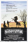 "Hollywood Memorabilia:Autographs and Signed Items, Kirk Douglas Signed Poster. For the 1982 drama ""The Man From SnowyRiver."" With COA from PSA/DNA...."