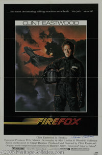 """Clint Eastwood Signed Movie Poster. Featured in this lot is a poster for the 1982 Cold War action thriller """"Firefox..."""