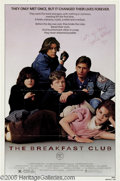 "Hollywood Memorabilia:Autographs and Signed Items, Emilio Estevez Autographed Poster. John Hughes hit the pinnacle ofhis teen movie cycle with ""The Breakfast Club,"" which joi..."