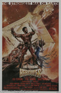 "Memorabilia:Miscellaneous, Lou Ferrigno Signed ""Hercules"" Poster. The 1982 release of ""Conan the Barbarian"" fueled a brief resurgence of fantasy flicks..."