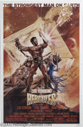"Memorabilia:Miscellaneous, Lou Ferrigno Signed Poster. For the B-grade sword-and-sorceryclassic ""Hercules."" With COA from PSA/DNA...."