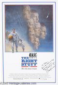 "Hollywood Memorabilia:Autographs and Signed Items, Ed Harris Signed Poster. For 1983's ""The Right Stuff,"" whichstarred Harris as pioneering astronaut John Glenn. With COA f..."