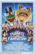 Hollywood Memorabilia:Autographs and Signed Items, Jim Henson and Frank Oz Signed Poster. The brains behind the muchbeloved Muppets, Jim Henson and Frank Oz were responsible ...