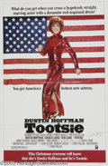 "Memorabilia:Miscellaneous, Jessica Lange Signed Poster. This lot is a poster for the classic'80s comedy ""Tootsie,"" signed by actress Jessica Lange. It..."