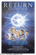 """Hollywood Memorabilia:Autographs and Signed Items, George Lucas Signed """"Return of the Jedi"""" Poster. When """"Return of the Jedi"""" opened in theaters in 1983, it became one of the ..."""