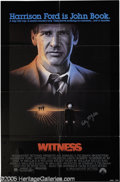 "Hollywood Memorabilia:Autographs and Signed Items, Kelly McGillis Signed Poster. For Peter Weir's Oscar-winning 1985thriller ""Witness,"" which starred McGillis as an Amish wom..."