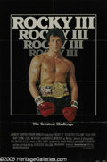 "Hollywood Memorabilia:Autographs and Signed Items, Burgess Meredith Signed Movie Poster. Featured in this lot is a poster for the 1982 sequel ""Rocky III"" signed by actor Burge..."