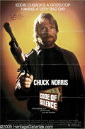 Hollywood Memorabilia:Autographs and Signed Items, Chuck Norris Signed Movie Poster. Martial arts champion turnedactor Chuck Norris made a name for himself by cranking out sc...