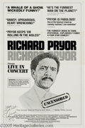 Hollywood Memorabilia:Autographs and Signed Items, Richard Pryor Signed Movie Poster. Controversial and hilariouscomedian Richard Pryor was never as funny as he was in his 19...