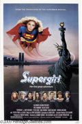 """Hollywood Memorabilia:Autographs and Signed Items, Helen Slater Signed Poster. For the comic book spin-off movie """"Supergirl,"""" Slater's second feature film and first lead role...."""