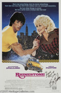 "Hollywood Memorabilia:Autographs and Signed Items, Sylvester Stallone Signed Movie Poster. The Italian Stallion wasriding a string of mediocre ""Rambo"" and ""Rocky"" sequels whe..."