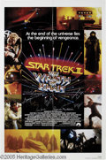 "Hollywood Memorabilia:Autographs and Signed Items, ""Star Trek II"" Movie Poster Signed by Cast (1982). Featured in thislot is a poster for ""Star Trek II: The Wrath of Khan"" --..."