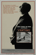 "Hollywood Memorabilia:Autographs and Signed Items, Jimmy Stewart Signed ""Vertigo"" Poster. Jimmy Stewart starred infour movies directed by master of suspense Alfred Hitchcock,..."