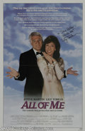 "Hollywood Memorabilia:Autographs and Signed Items, Lily Tomlin Signed Movie Poster. This lot features a poster for theCarl Reiner comedy ""All of Me"" signed by actress Lily To..."