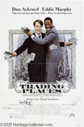 "Hollywood Memorabilia:Autographs and Signed Items, Dan Aykroyd, Jamie Lee Curtis, and Ralph Bellamy Signed Poster. Forthe hit 1984 comedy ""Trading Places."" With COA from PS..."