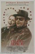 "Hollywood Memorabilia:Autographs and Signed Items, Kathleen Turner Signed Movie Poster. A poster for John Huston's romantic comedy ""Prizzi's Honor"" (one of the last movies he ..."