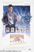 "Hollywood Memorabilia:Autographs and Signed Items, Peter Weller Signed Poster. For the cult sci-fi movie ""TheAdventures of Buckaroo Banzai Across the Eighth Dimension."" Wit..."