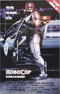 "Memorabilia:Miscellaneous, Peter Weller Signed Poster. For the video release of the sci-ficlassic ""RoboCop."" With COA from PSA/DNA...."