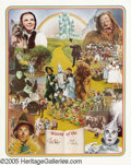 "Hollywood Memorabilia:Autographs and Signed Items, Ray Bolger and Jack Haley Signed ""The Wizard of Oz"" Poster(Nostalgia Merchant, 1977). Originally cast as the Tin Man in""Th..."