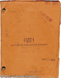 "Memorabilia:Miscellaneous, ""Action In the North Atlantic"" Script. Featured here is an original copy of the script for the 1943 war drama, in good condi..."