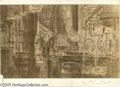 """Hollywood Memorabilia:Miscellaneous, """"Atlantis, The Lost Continent"""" Storyboard Art. A nice 27 1/2"""" x 17"""" hand-drawn storyboard featuring a laboratory scene from ..."""