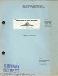 "Hollywood Memorabilia:Miscellaneous, ""Babes On Broadway"" Script. A vintage copy of Fred Finklehoffe and Elaine Ryan's screenplay for the 1941 Busby Berkley movie..."