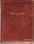 "Hollywood Memorabilia:Miscellaneous, ""Caine Mutiny"" Script. Director Edward Dmytryk's personal,leather-bound copy of the screenplay for the 1954 drama, whichst..."