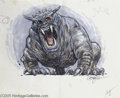 "Hollywood Memorabilia:Miscellaneous, ""Ghost Busters"" Concept Art. This is a frightfully fun item forfans of the movie ""Ghost Busters,"" a piece of concept art by..."