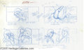 "Hollywood Memorabilia:Miscellaneous, ""Ghost Busters"" Storyboard Art. Another nice item for fans of ""Ghost Busters"": A sample of early storyboard artwork detailin..."