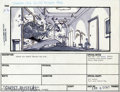 "Hollywood Memorabilia:Miscellaneous, ""Ghost Busters"" Story Board Art. Here's something you don't seeeveryday, a piece of storyboard art from the action-comedy ""..."