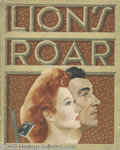 "Hollywood Memorabilia:Miscellaneous, MGM ""Lion's Roar"" In-House Magazine. A copy of the May, 1944 issue of MGM's Lion's Roar magazine, featuring photos and a..."