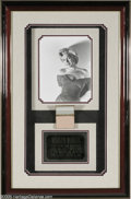 "Hollywood Memorabilia:Miscellaneous, Marilyn Monroe Framed Compact. Marilyn Monroe's personally owned and used compact, measuring approximately 2.75"" x 2.5"" with..."