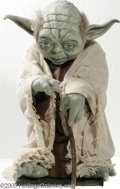Hollywood Memorabilia:Props, Yoda Limited Edition Figure. Featured is a reproduction of Jedi master Yoda, hand-painted and rendered in latex from a sculp...