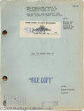 "Hollywood Memorabilia:Props, ""Till the Clouds Roll By"" Script. A file copy of the screenplay forthe 1946 musical ""Till the Clouds Roll By,"" a biopic abo..."