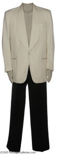 """Hollywood Memorabilia:Costumes, Warren Beatty """"Bugsy"""" Costume. Offered is a white dinner jacket and black slacks worn by Warren Beatty in the acclaimed 1991..."""