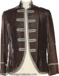Hollywood Memorabilia:Costumes, Marlon Brando Costume Jacket. A velvet period jacket worn by the late, great actor in an unidentified production....