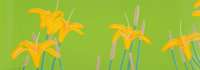 Alex Katz (b. 1927) Daylilies, 1992 Screenprint in colors on Arches paper 14 x 39-3/4 inches (35