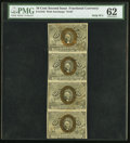 Fractional Currency:Second Issue, Fr. 1245 10¢ Second Issue Uncut Strip of Four PMG Uncirculated 62.. ...
