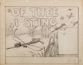 Animation Art:Production Drawing, Of Thee I Sting Lobby Card Concept Art (Warner Brothers,1946)....