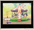 Animation Art:Concept Art, Past Perfumance Layout Concept Art Signed by Maurice Noble (Warner Brothers, 1955)....