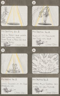 Animation Art:Production Drawing, The Bugs Bunny Show Bugs Bunny Storyboard Drawings Signed byChuck Jones, Friz Freleng and Robert McKimson Group of 4 ...(Total: 4 Original Art)