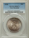 Commemorative Silver, 1938 50C New Rochelle MS67+ PCGS. PCGS Population: (218/6 and 58/2+). NGC Census: (93/15 and 2/1+). MS67. Mintage 15,266. ...