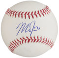 Autographs:Baseballs, 2014 Mike Trout Single Signed Baseball, PSA/DNA MT 9 - 1st MVP Season....