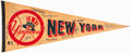 Autographs:Others, New York Yankees Multi-Signed Pennant (16 Signatures)....